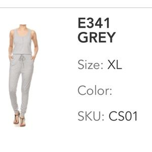 Gray Jumpsuit-XL